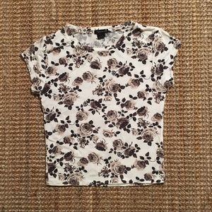 NWOT FOREVER 21 CROPPED FLORAL PRINT T-SHIRT